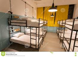Modern Loft With Bunk Beds In Youth Hostel With Dormitory Rooms - Dorm bunk beds