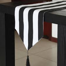black and white table runners cheap trendy table runner black white strip table runners modern home