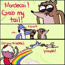 My Meme - mordecai grab my tail x grab my y know your meme