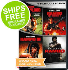 4 movie collection rambo first blood i ii iii sylvester stallone