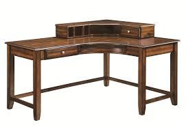 Real Wood Corner Desk Corner Desk With Hutch In Walnut Finish By Coaster 800594