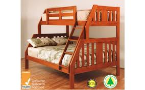 Troy Single  Double Timber Bunk Bed - Single double bunk beds