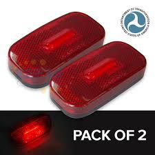 led side marker lights for trucks 2pcs of 12v oblong waterproof led side marker light red lighting car