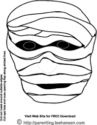 mummy monster face mask print cut