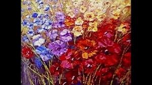 Paint Pallet by Paint Flowers With Palette Knife Techniques Demonstration Video By