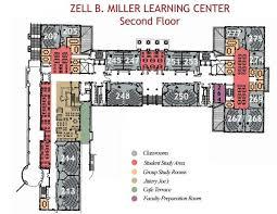 floor plans zell b miller learning center