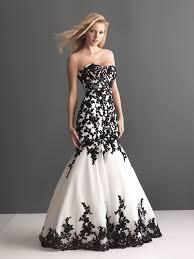 Black And White Wedding Dress Black White U0026 Lace Trebella Events
