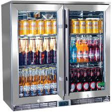 sliding glass door fridge under bench integrated glass door drinks refrigerators quiet