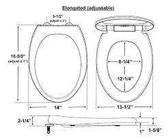 Eljer Canterbury Toilet Eljer Toilet Seat Size Toilets Decoration