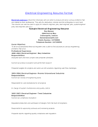 Example Of Resume Format by Download Charted Electrical Engineer Sample Resume