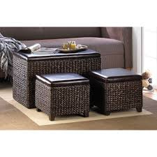 Storage Ottoman Gray by Storage Livingroom Storage Unit Dark Chocolate Wicker Furniture