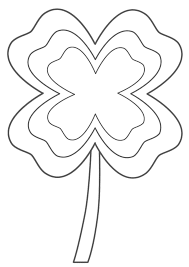 four leaf clover with multi border coloring page st patrick u0027s day