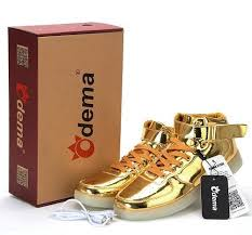 light up shoes gold high top 10 led shoes that light up at the bottom and change colors like