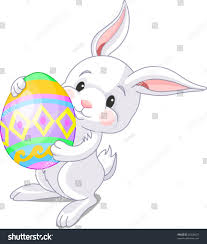 illustration happy easter bunny carrying egg stock vector 25836037