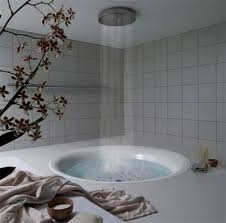 bathroom luxury bathroom decoration feature white circle drop in