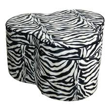 Animal Print Storage Ottoman Zebra Print Storage Ottoman With 3 Seats Free Shipping Today