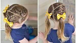 kids hairstyle side french braid u0026 micro braids youtube