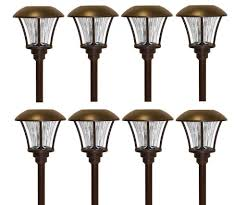 Solar Patio Lights Amazon by Amazon Com Smartyard Solar Led Pathway Lights 8 Pack Patio