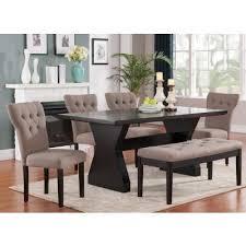 Acme Furniture Dining Room Set Effie Dining Room Set W Light Brown Chairs Acme Furniture