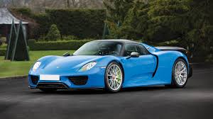 one of a kind arrow blue porsche 918 spyder up for auction