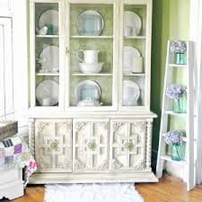 shabby farmhouse china cabinet makeover fox hollow cottage