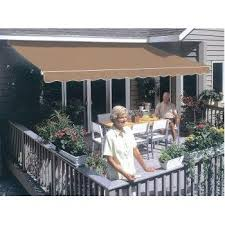 Best Way To Clean Awnings Amazon Com 14ft Sunsetter Taupe Motorized Awning Patio Awnings