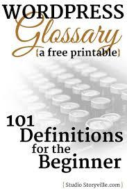 tutorial wordpress com pdf 101 wordpress terms defined a glossary for tech newbies