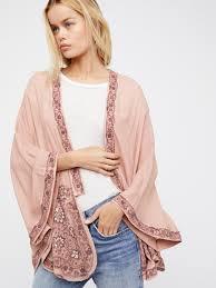 free people bold love kimono in pink lyst