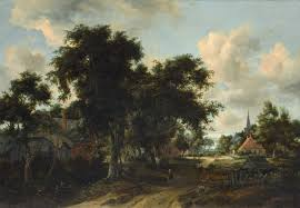 Landscape With Houses by Meindert Hobbema Gallery Bestofpainting