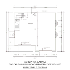 barn pros 2 car 30 ft x 28 ft engineered permit ready garage engineered permit ready garage package with loft installation not included