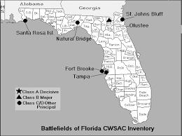 florida civil war map of battles