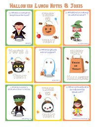 printable halloween lunchbox notes and lunch ideas thrifty jinxy