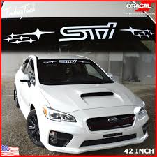 subaru wrx decals subaru sti vinyl windshield banner decal graphic wrx impreza