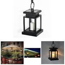 Solar Umbrella Lights by Solar Powered Hanging Umbrella Lantern Candle Led Light With Clamp