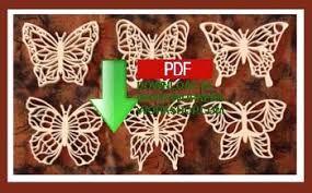 48 sldk199 butterfly filigree ornaments scrollsaw pattern