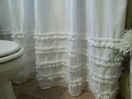 Shower Curtains White Fabric Skirt White Fabric Shower Curtain Style Remove Mold Stain White