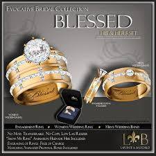wedding rings his and hers matching sets second marketplace his hers blessed wedding ring set