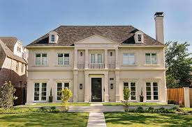 french limestone home exterior with balcony houses i love