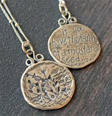 faith of a mustard seed necklace tiny faith sterling necklace christian personalized gifts