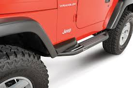 lifted jeep red shop all jeep side steps quadratec