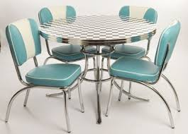 50 s kitchen table and chairs retro american diner style furniture turquoise chair striped