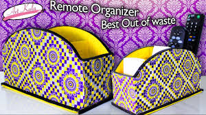 how to make remote holder remote organizer best out of waste