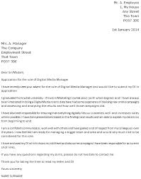 digital media manager cover letter example u2013 cover letters and cv