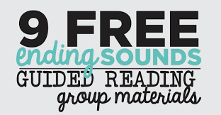 ending sounds 9 guided reading skill group materials printables