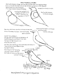 how to draw worksheets for the young artist how to draw a robin