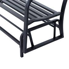 Garden Rocking Bench Outsunny 50 Outdoor Steel Patio Swing Glider Bench