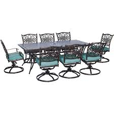 Metal Patio Dining Sets - aluminum 8 9 person metal patio furniture patio dining sets