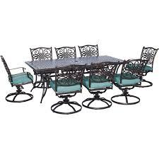 Iron Patio Dining Set - aluminum 8 9 person metal patio furniture patio dining sets