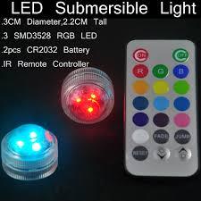 submersible led lights wholesale 10pcs wedding decoration single color waterproof submersible led tea