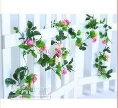 2015 best artificial hanging garland silk flower vine wedding